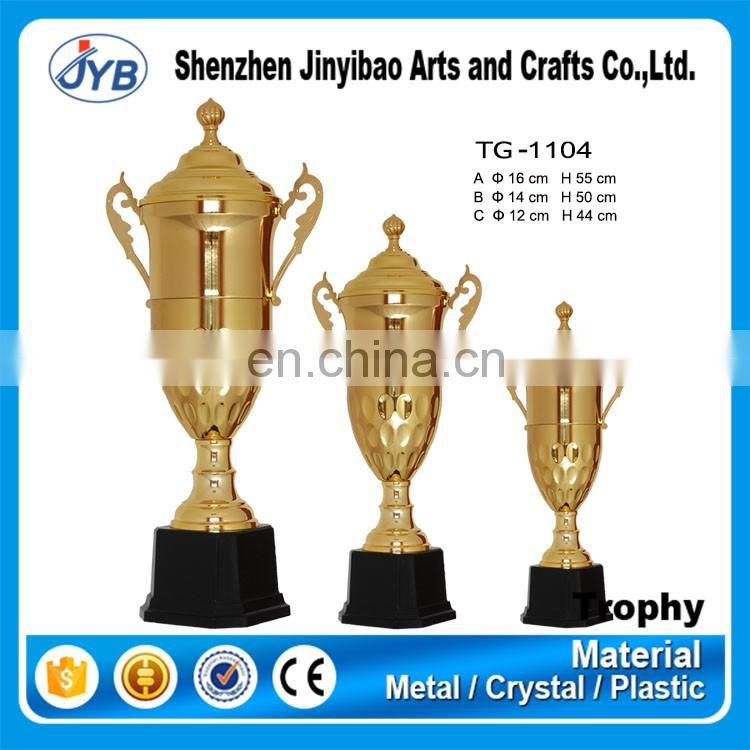 Newest hot design wholesale trophy bases gold trophy parts