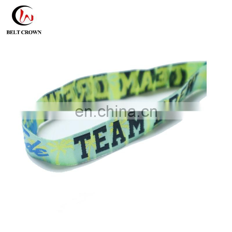 Design your own custom woven wristband for events