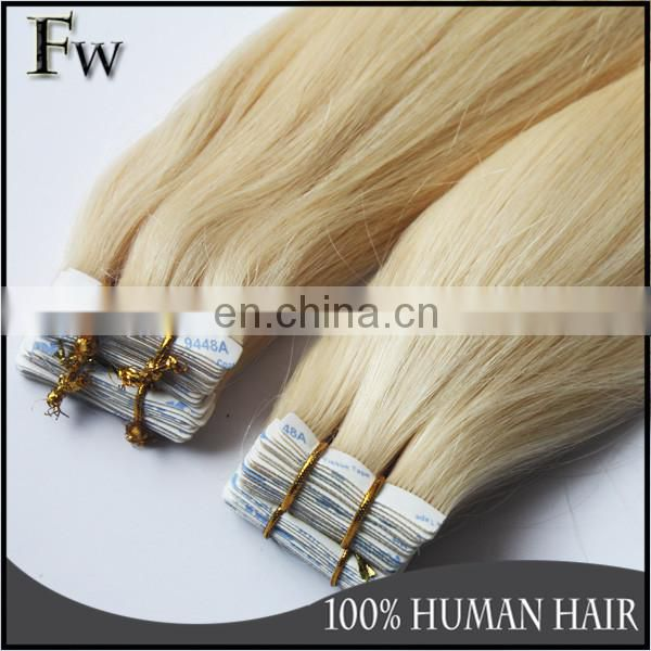 Faceworld hot sell blonde indian remy hair weave,best selling indian tape hair extension