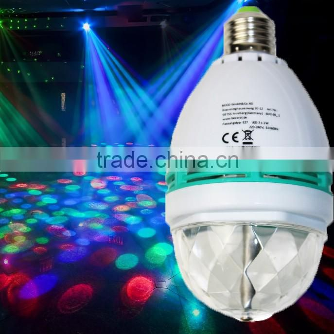 Low Price Factory Party Disco DJ Bar Decoration RGB Crystal Magic Ball Stage Lights Led Rotating Bulb Lamp