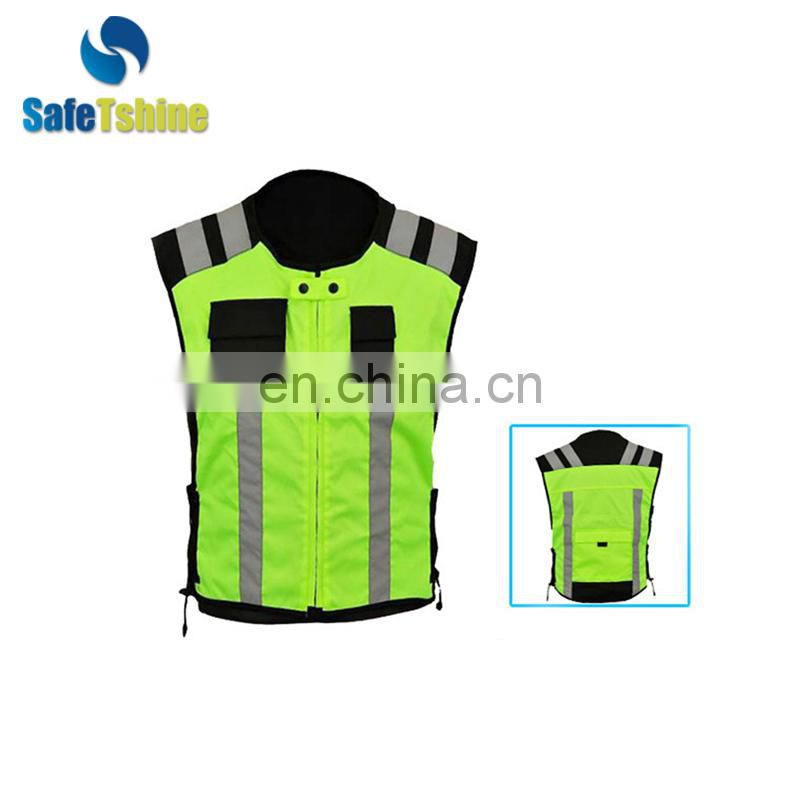 Made in china high visibility reflective running vest