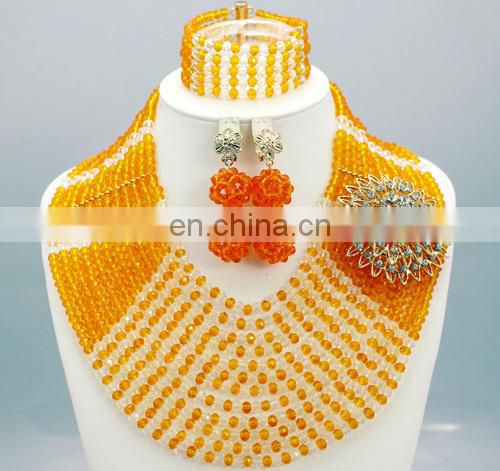 2015 fashion necklace beaded necklace jewerly for nigeria wedding party