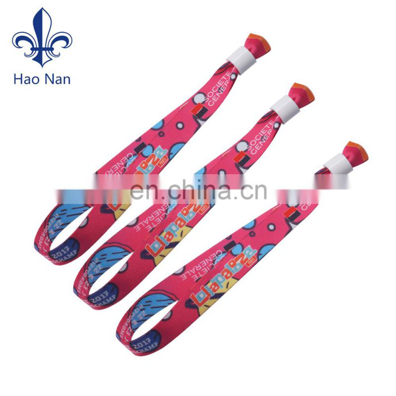 High Quality factory design fabric wristband with custom