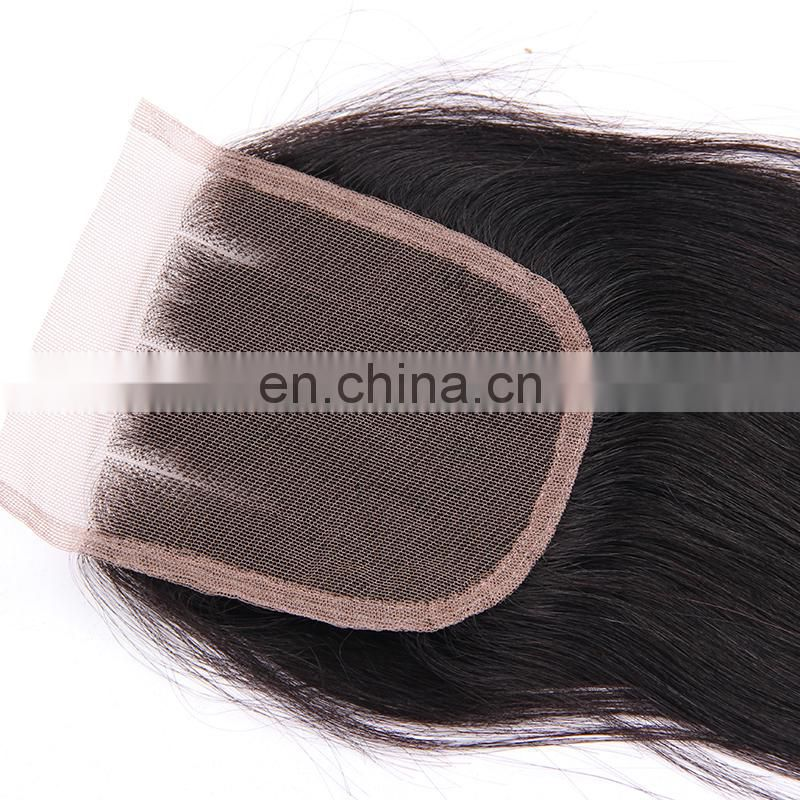 Queena factory directly wholesale human hair lace closure, frontal lace closure with bundles large stock