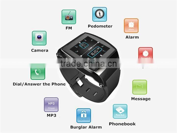 2015 Best Selling Quad Band Bluetooth Dialer GSM Bluetooth Android Smart Watch With Mobile Phone function