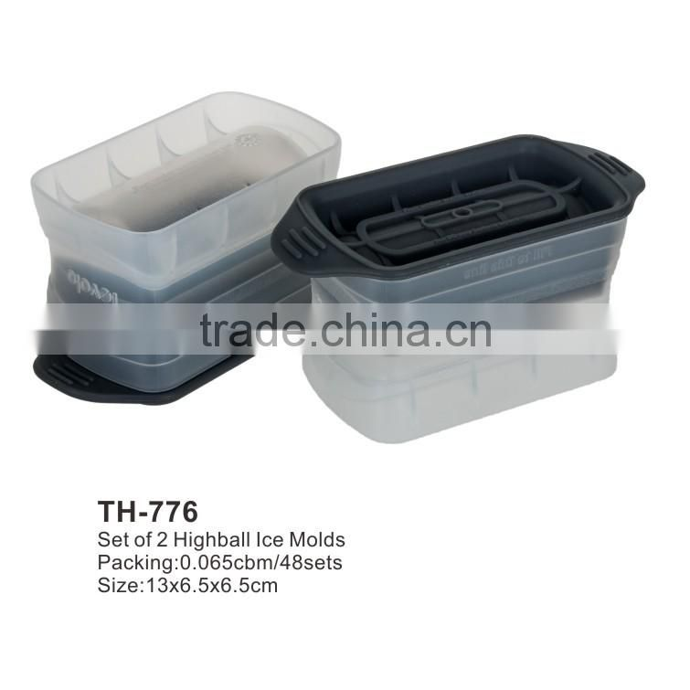 set of 2 colossal cube plastic ice mould