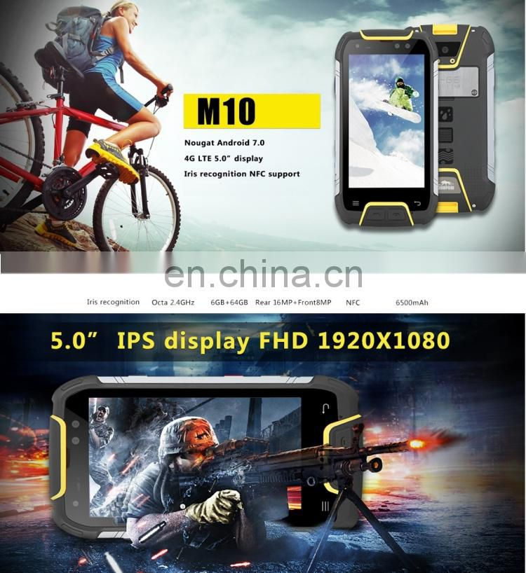 Snopow M10, 6GB+64GB IP68 4g mobile phone Waterproof Dustproof Shockproof android phone new products