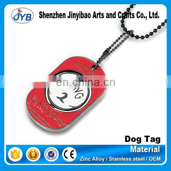 sublimation engraved dragon dog tag christain