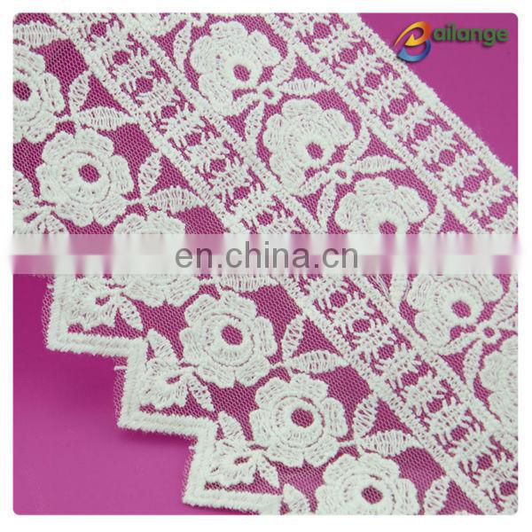 2016 wholesale Chemical Procuct type lace 100% Cotton Lace Embroidered Technics embroidery lace