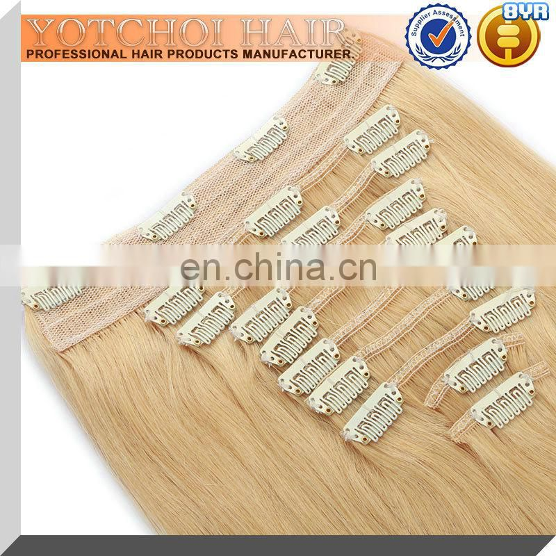 wholesale 14 inch clip in human hair extensions