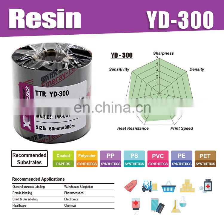 Color Resin ribbon Size for 70mm*300m with 1 Inch core
