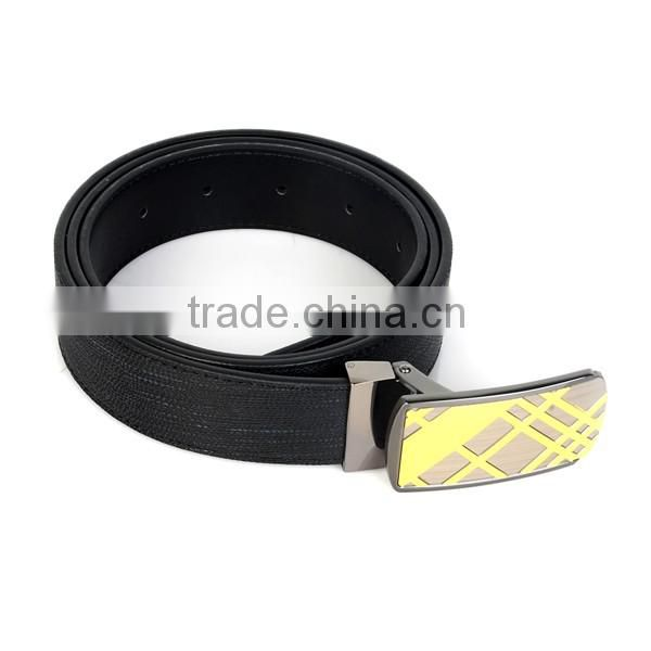 Custom high quality cow leather buckle belts for business men