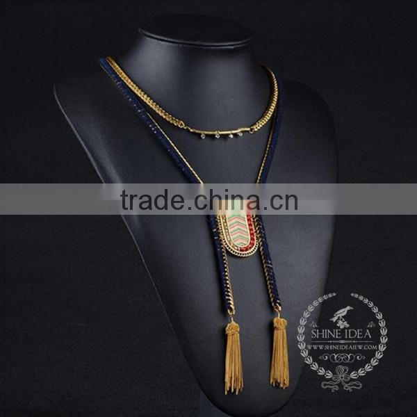 high quality vintage style chunky statement necklace tin alloy fashion women pendant necklace 6390114