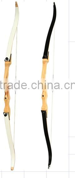 Hot selling Recurve bow,white and black color limbs