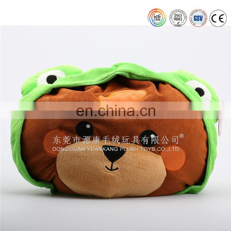 2015 Hot Sale 3D Round DIY animal shaped kids Plush Pillow