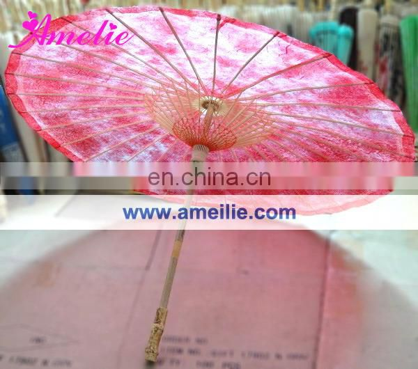 A6296 Latest red wedding paper umbrella