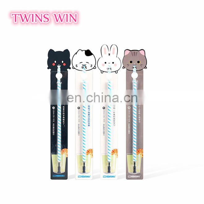 2018 Hot Selling children stationery custom logo cartoon cute plastic gel pens most cheap multi color ink pen popular at Korea