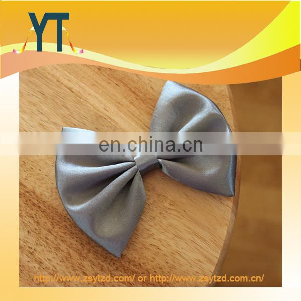 Top Quanlity Elegance Satin Slivery Medium Size Bowknot Hair Bow For Girl,Silk Bows