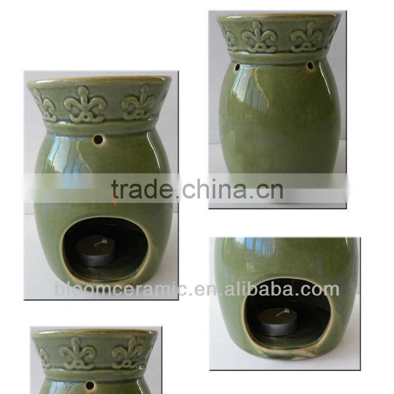 Green wholesale ceramic oil burners