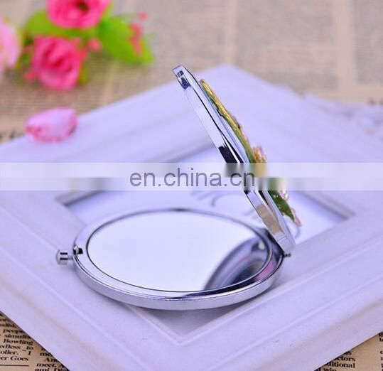 Crystal Gift Mirror Compact Antique Cosmetic Mirror Hot Sale Makeup Mirror