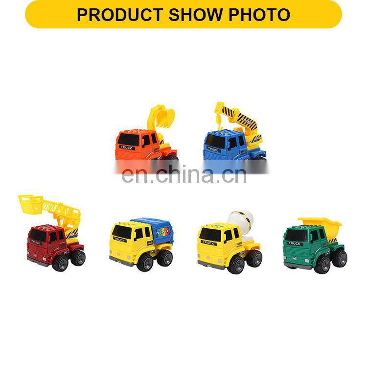6 designs friction toys engineering vehicle