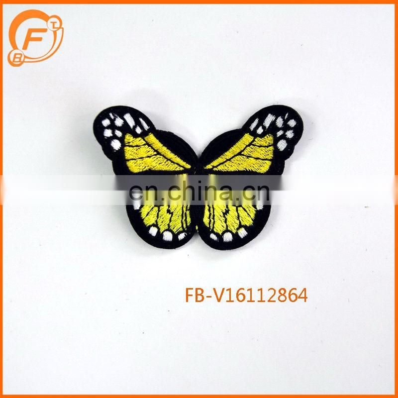 Embroidery Patch And Iron embroidery Butterfly Design Badge
