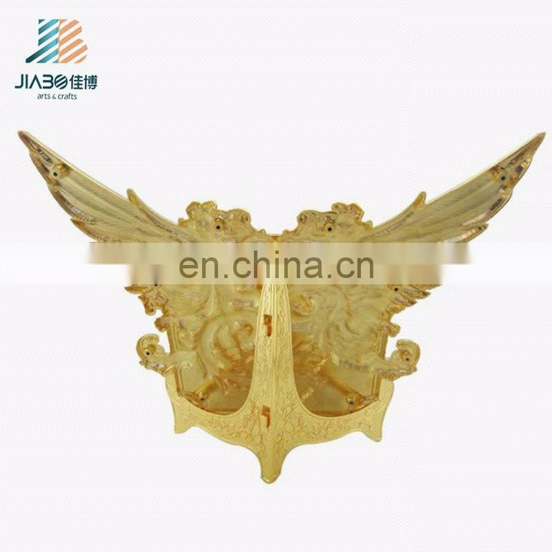 Fashion custom design gold plating eagle souvenir blank thin metal plate