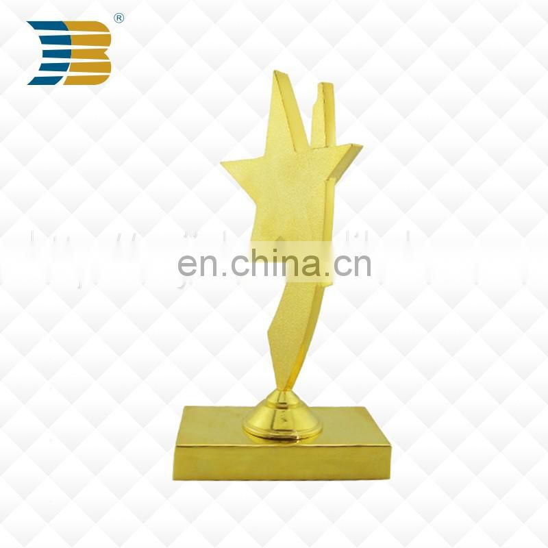 Hot Selling Awards Souvenir Sports Star Shape Metal Trophy