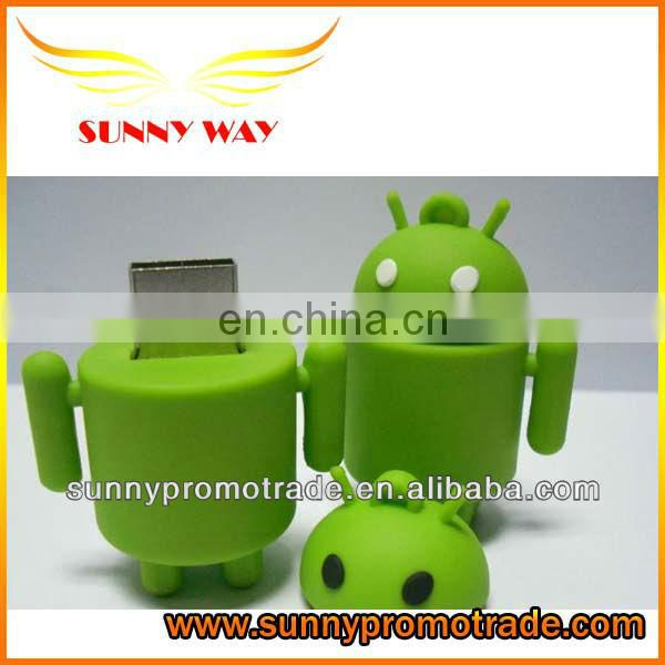 new design cute robot shape soft pvc USB