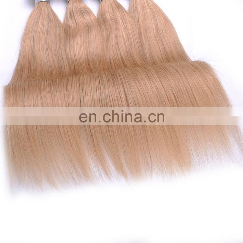 crochet braids with human hair, silky straight blonde 27, wholesale human hair