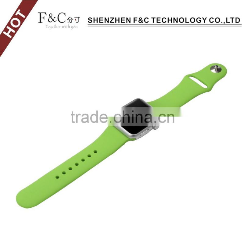 Silicone watch band for iwatch,rubber straps for apple watch,38mm/42mm link wrist watch band