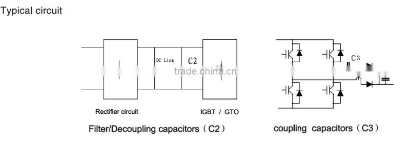 Film capacitor, DC link capacitor, diy capacitive discharge