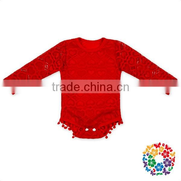 Red Knit High Waist baby Fringe bloomer