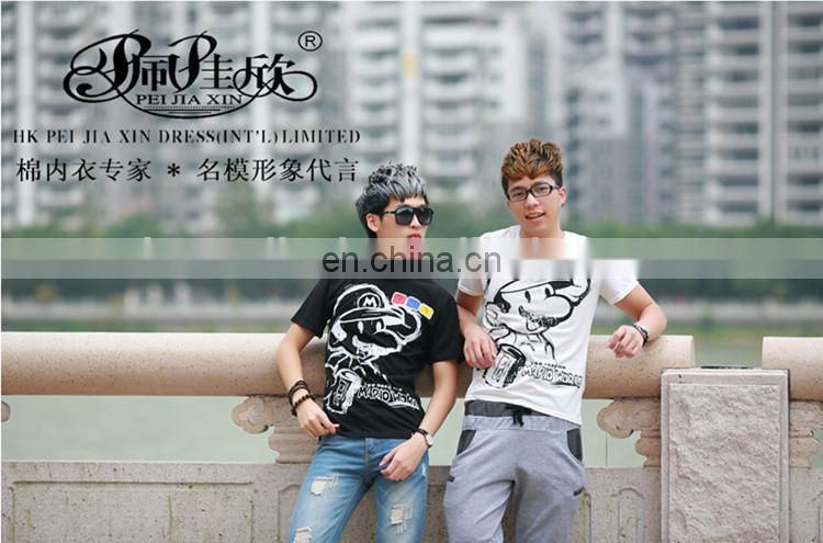 2017 Peijiaxin Latest Design Casual Style Custom Round Neck Tshirt Men Printing