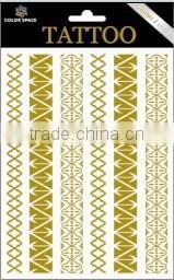 Tattoo Sticker Type and Temporary Feature gold metallic tattoo