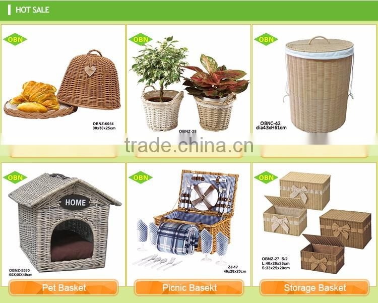 Wholesale custom eco-friendly new style comfortable decoration cheap willow wicker basket for pet