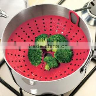 MA-996 2013 Best Selling FDA Approved Silicone Kitchen Dish Steamer