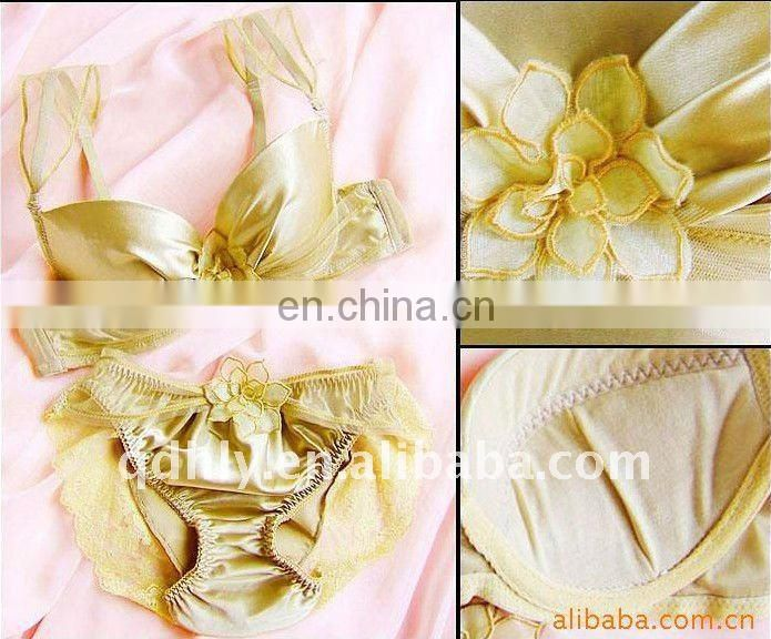 Gold Shiny club bra set