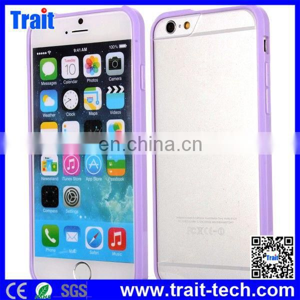 2015 New Arriving TPU Bumper Frame Hybrid Case for iPhone 6 4.7 inch