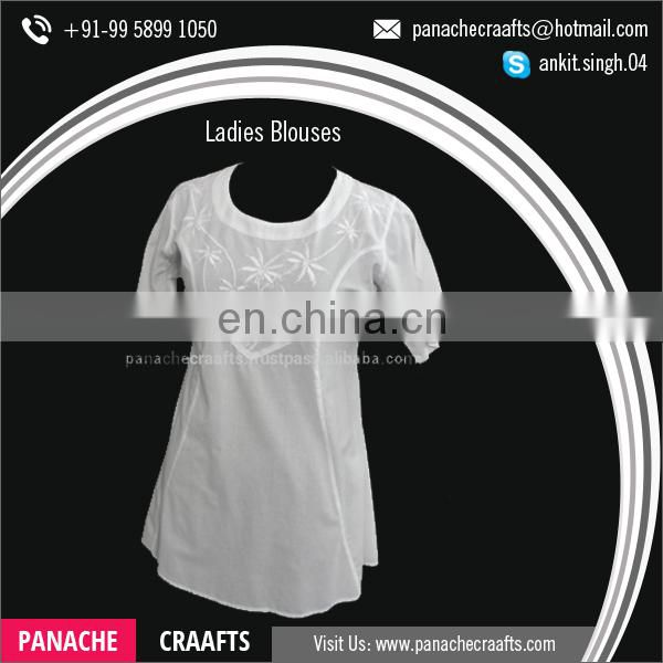 Wholesale Supplier of 100% Cotton Women Blouses and Tops