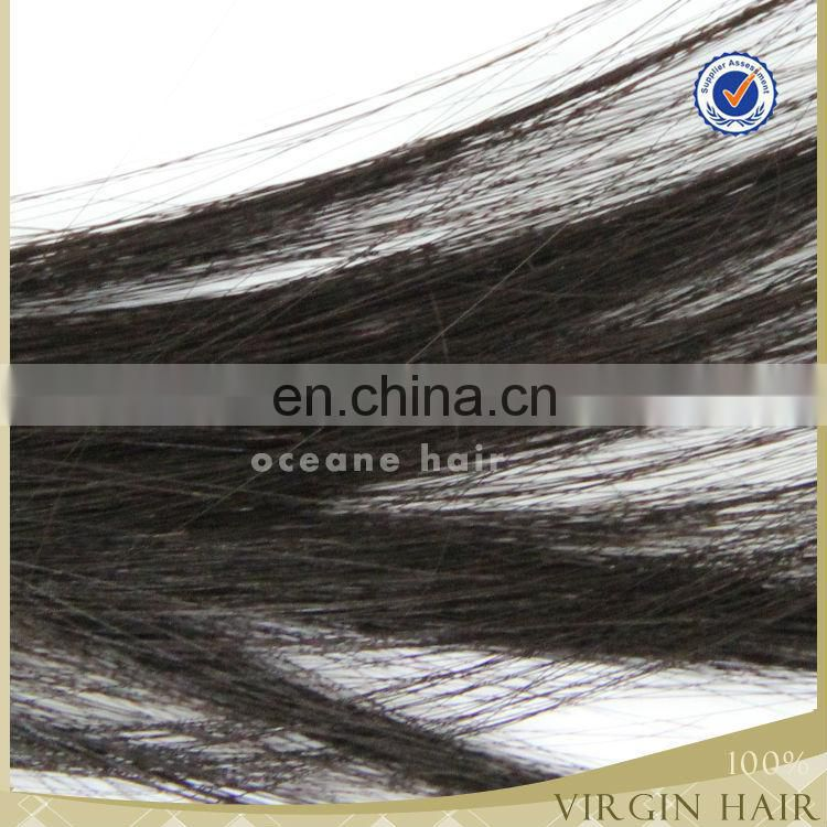 Top Grade 5A 8-30 inch all texture natural color striaght brazilian remy hair
