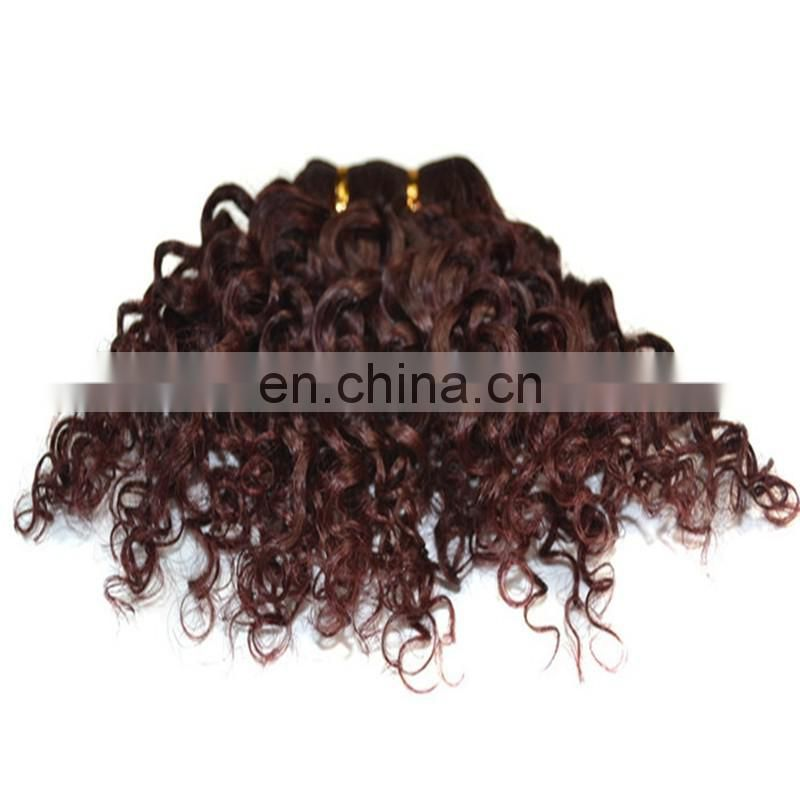 Kinky curly style human hair extensions remy brazilian hair short natural afro curl hair extension for black women