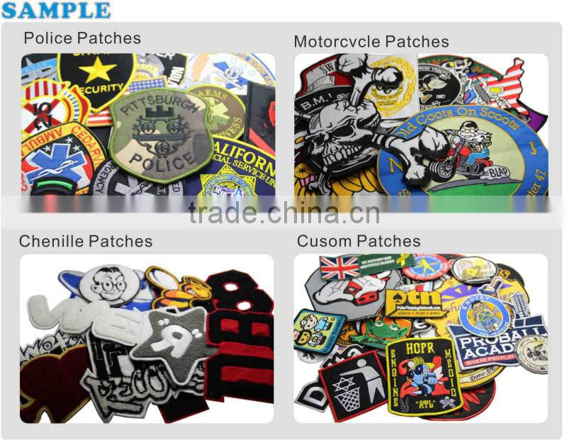 Hand Custom Cheap Embroidery Chenille Fabric Patches/Badges