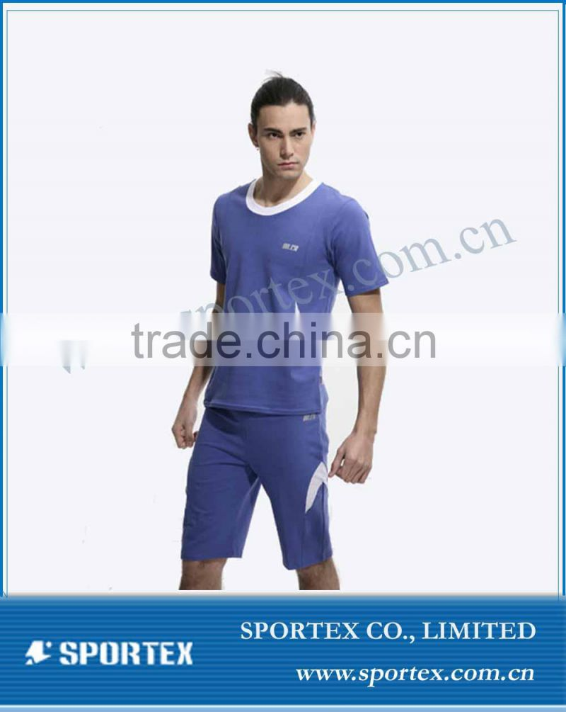 custom sport wear men shorts with vest high performance