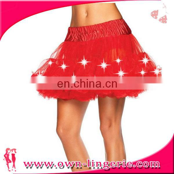 2015 fashion knee length dance wear skirt