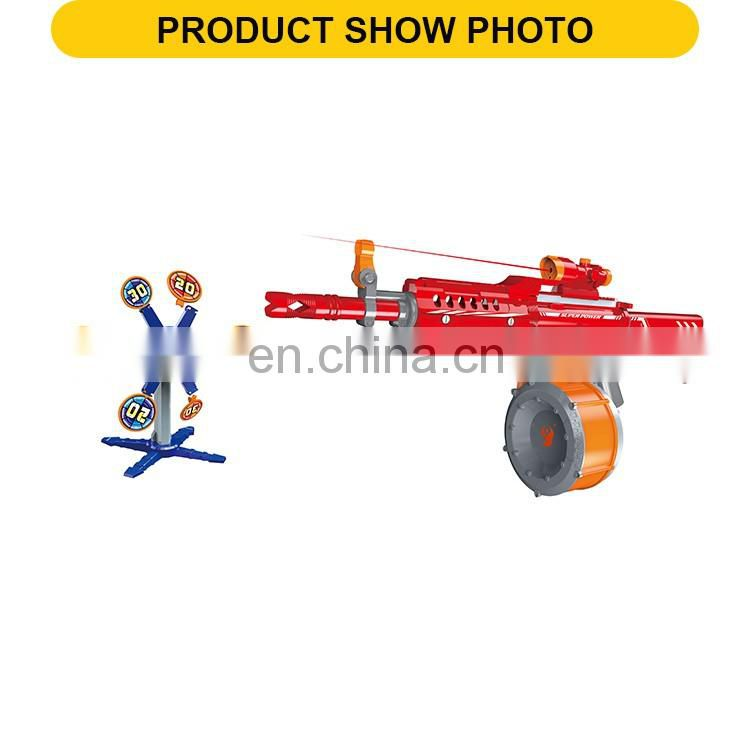 Hot sale plastic electric soft bullet gun toy with telescopes & infra-red