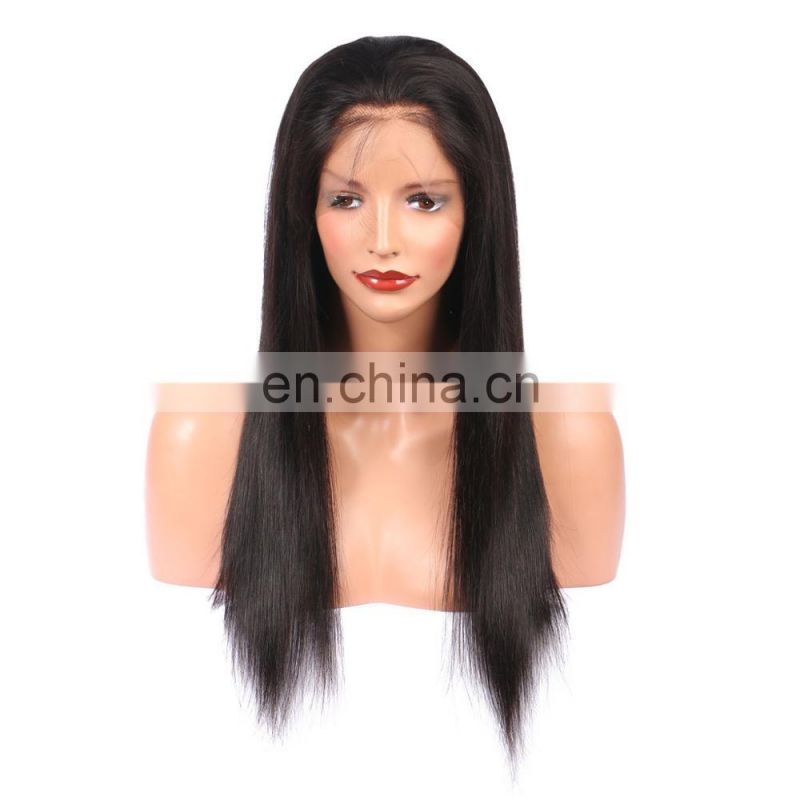 OVERNIGHT SHIPPING 100% brazilian human vrigin 9A grade 360 lace front wig in silky straight raw unprocessed hair