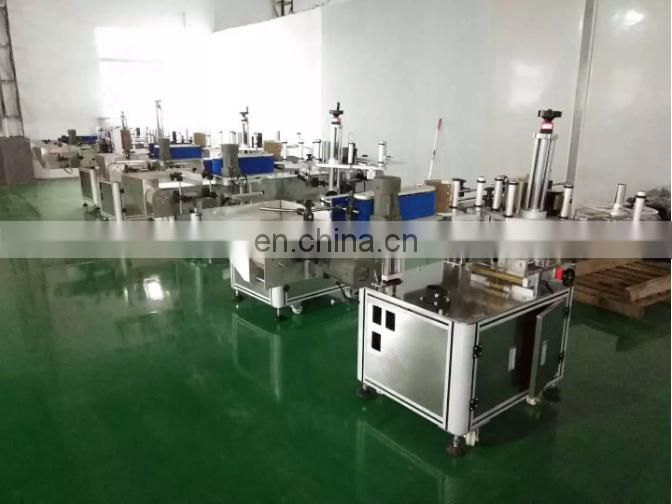 Automatic two side label applicator machine paper card plane labeling machine