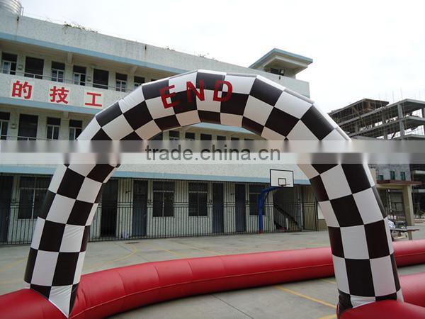 Custom giant outdoor inflatable sports games race track,go karts racing track for sell, racing track