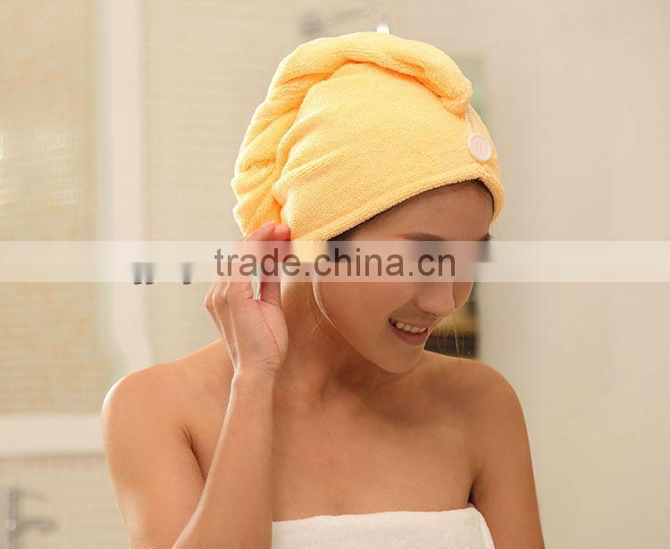 Microfiber drying hair towel